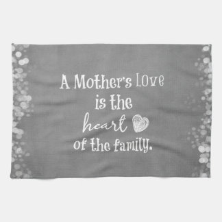 Inspirational Mom Quote Hand Towel