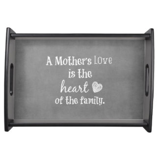 Inspirational Mom Quote Food Trays