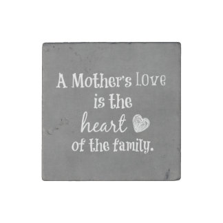 Inspirational Mom Quote Stone Magnet