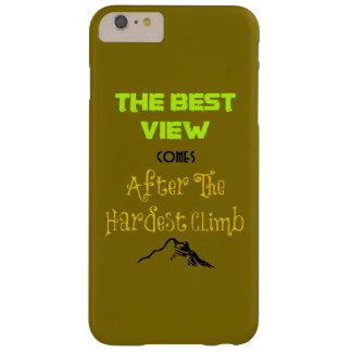 Inspirational Motivating Hiking Quote Typography Barely There iPhone 6 Plus Case