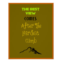 Inspirational Motivating Hiking Quote   Typography Poster