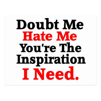 Inspirational / Motivation quote Postcard