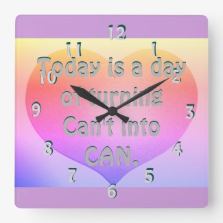 Inspirational Motivational Inspiring Pastel Clock