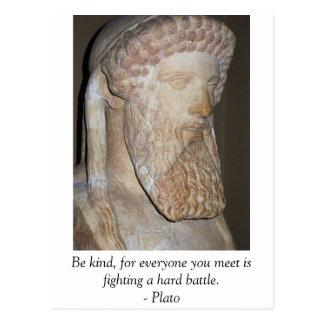 Inspirational Motivational Plato quote Postcard