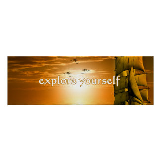 inspirational motivational quote explore yourself poster