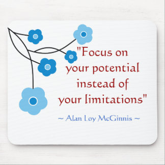 Inspirational Motivational Quote Mousepad