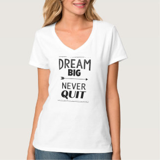 Inspirational motivational quote V-Neck T-Shirt