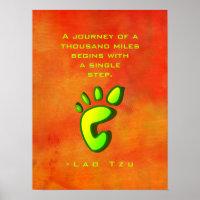 Inspirational Motivational Wisdom by   Lao Tzu Poster