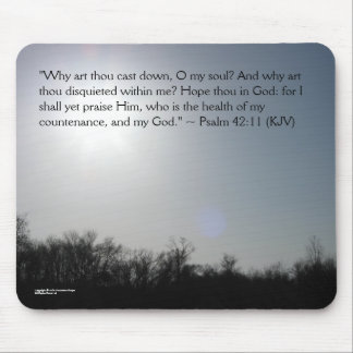 Inspirational mousepad - Psalm 42:11