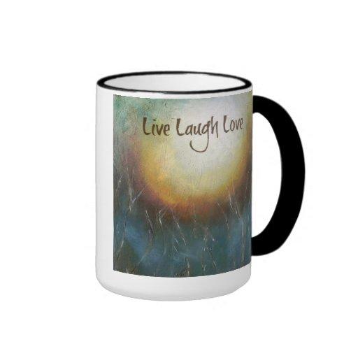 "Inspirational Mug ""Live Laugh Love"""