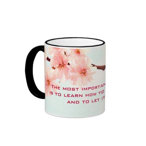 Inspirational mug, Lovely Japanese cherry blossom