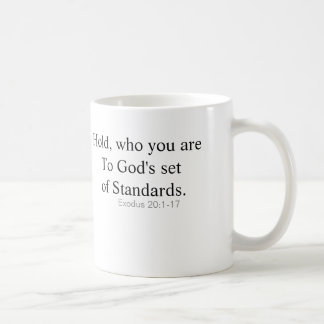Inspirational mug, with clarity of our actions. classic white coffee mug