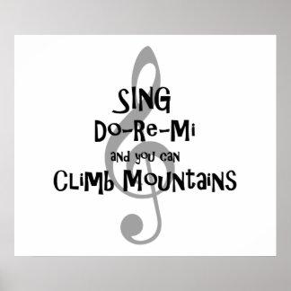 "Inspirational Music Poster ""SING Do-Re-Mi--"