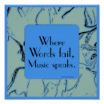 inspirational music quote poster