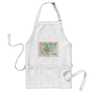 Inspirational nature quote by Emily Bronte Adult Apron