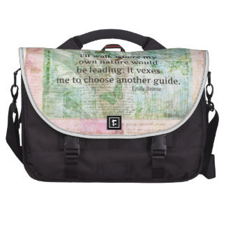 Inspirational nature quote by Emily Bronte Laptop Messenger Bag