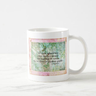 Inspirational nature quote by Emily Bronte Coffee Mugs