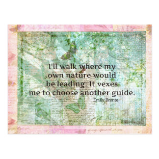 Inspirational nature quote by Emily Bronte Postcard