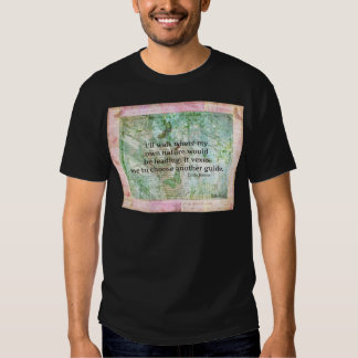 Inspirational nature quote by Emily Bronte Tee Shirt