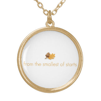 """Inspirational necklace """"from small starts""""!"""