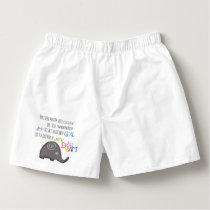 Inspirational Never Too Late to Dream Elephant Boxers