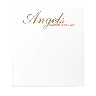 inspirational note pad, scratch pad, angels notepad
