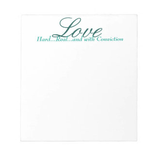 inspirational note pad, scratch pad, love