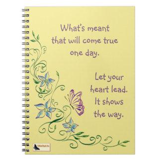 Inspirational Notebook - Keep Moving