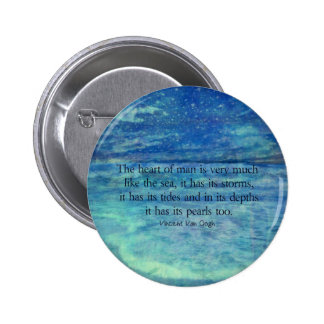 Inspirational ocean sea quote pinback button