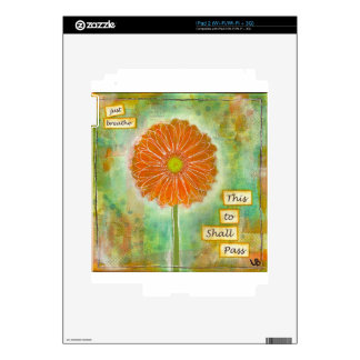 Inspirational one of a kind gift. iPad 2 decals