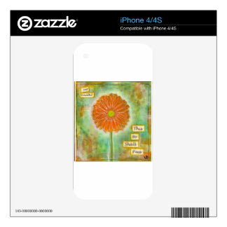 Inspirational one of a kind gift. decals for the iPhone 4S
