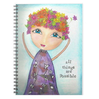 inspirational one of a kind gift. spiral notebook