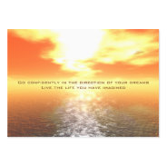 Inspirational Orange Sunset Card Large Business Cards (Pack Of 100) at Zazzle