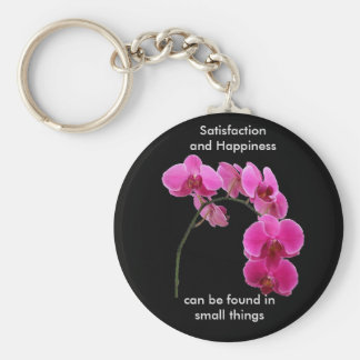 Inspirational Orchid Basic Round Button Keychain
