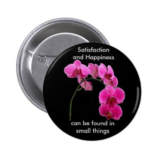 Inspirational Orchid Button