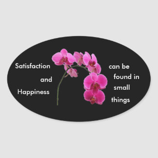 Inspirational Orchid Oval Sticker