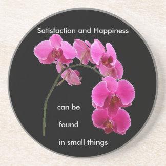 Inspirational Orchid Sandstone Coaster