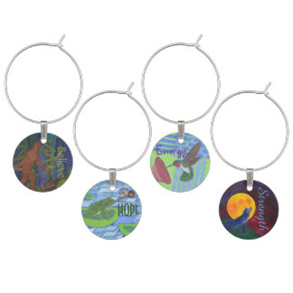 Inspirational Pacific Northwest - Set 1 Wine Glass Charm