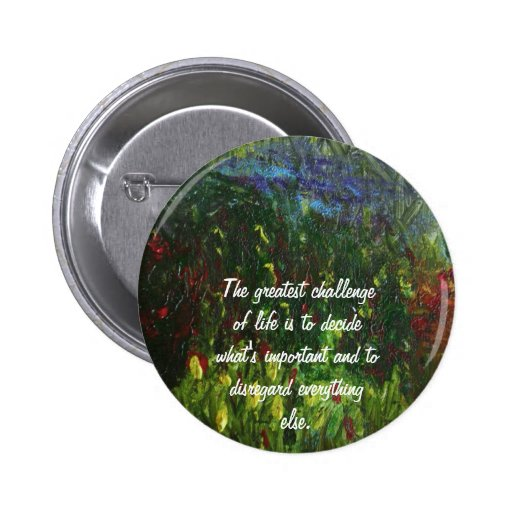 Inspirational painting 2 inch round button