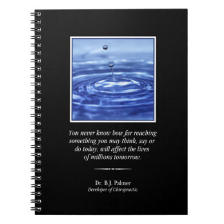 Inspirational Palmer Quote Chiropractic  Notebook