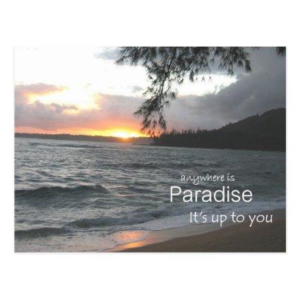 Inspirational Paradise Post Card
