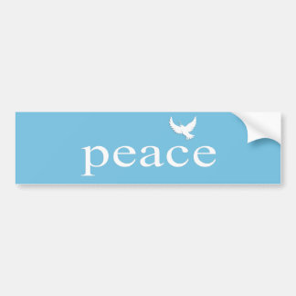 Inspirational Peace Quote Car Bumper Sticker