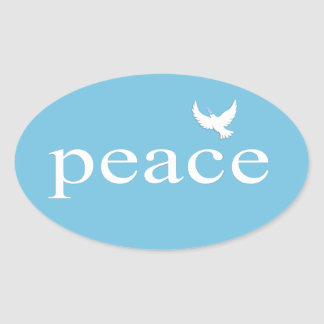 Inspirational Peace Quote Oval Sticker