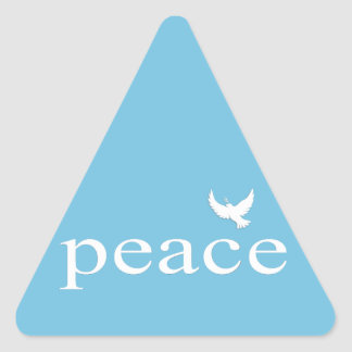 Inspirational Peace Quote Triangle Stickers