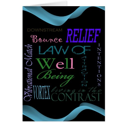 Inspirational Personal Growth Law of Attraction Ca Greeting Cards
