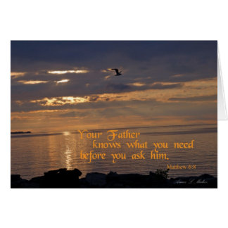 Inspirational photo gifts card