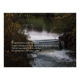 Inspirational Photo with Quote on Hope Posters
