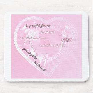inspirational pink mouse pad