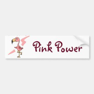 Inspirational Pink Power Flamingo Bird Bumper Sticker