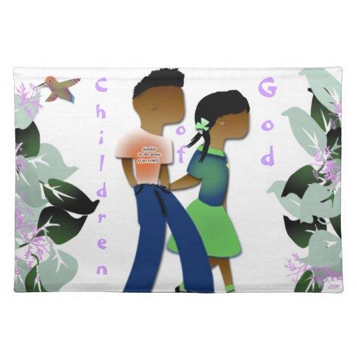 Inspirational placemat for kids cloth place mat